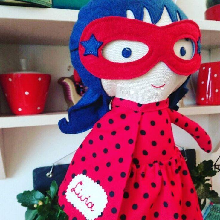 Meet Superladybug! Click link in bio for more superhero girl dolls! #lalobastudio #lalobadolls #ladybug #superwoman #superhero #customorder #kidsgift #birthday #etsy #dollsanddaydreams