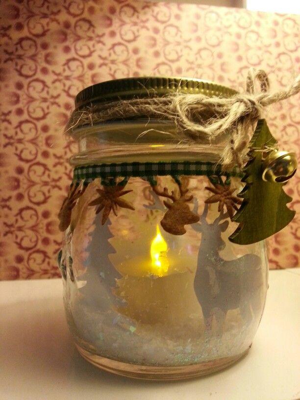 Glowing Snow Scene Jar