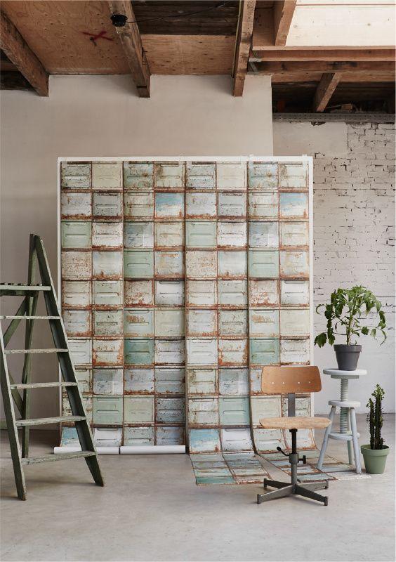 *NIEUW* Industrieel container behang licht | Studio Ditte | Huis & Grietje
