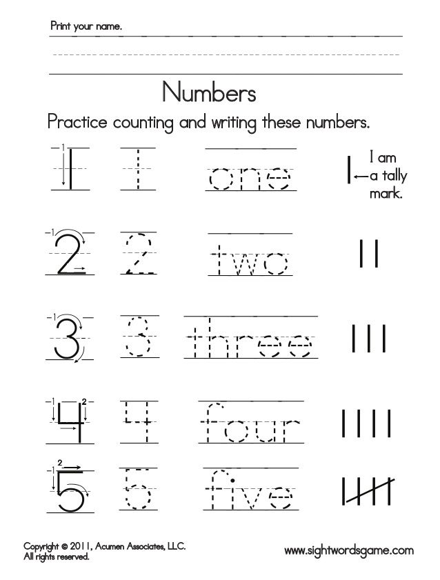 37 best kg 2 numbers images on Pinterest | Kid activities ...