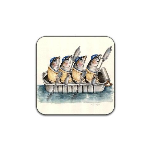 The Rowing Club Coaster by tracylyons at zippi.co.uk