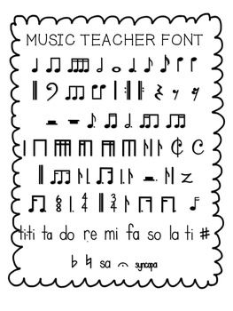 FREE Music Teacher Font!