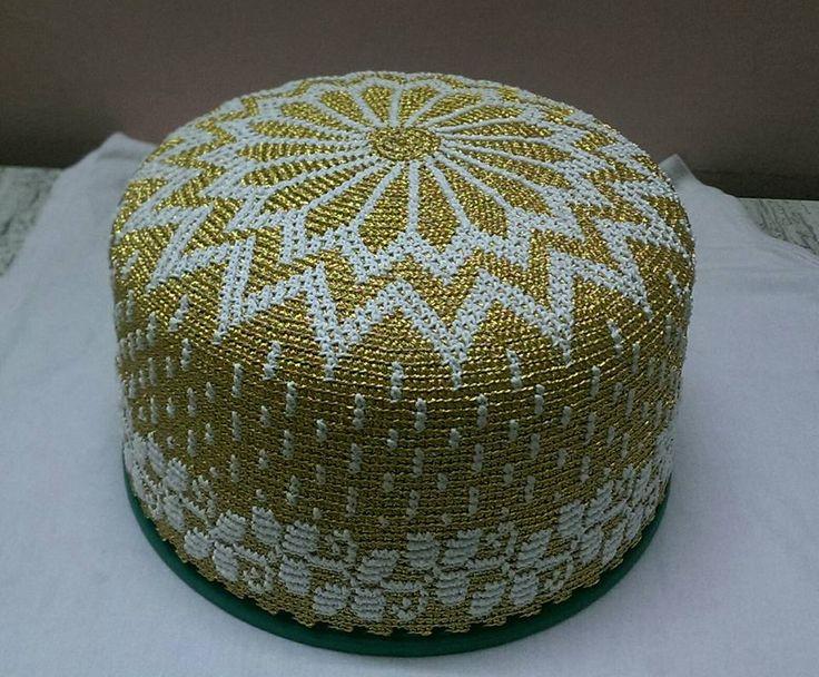 bohra design golden kasab topi | Dawoodi Bohra Topi Design ...