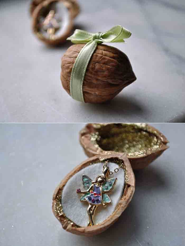 Pin for Later: 88 Awesome DIY Stocking Stuffers Fairy Walnut This fairy walnut will contain a magical gift. Source: Curly Birds