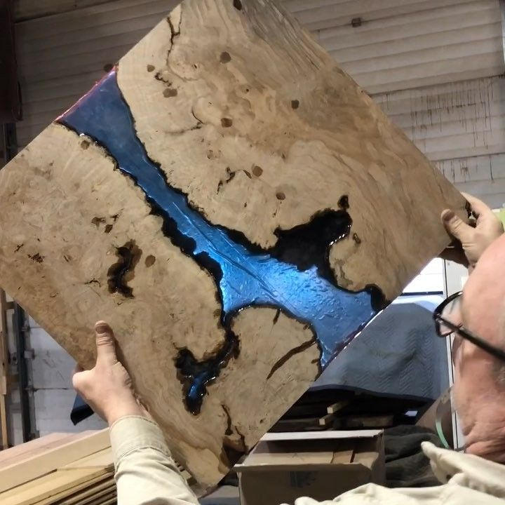 4 665 Likes 82 Comments Black Forest Wood Co Blackforestwoodco On Instagram Ocean Blue Resin Art Dropping This Mo Black Forest Wood Resin Art Wood