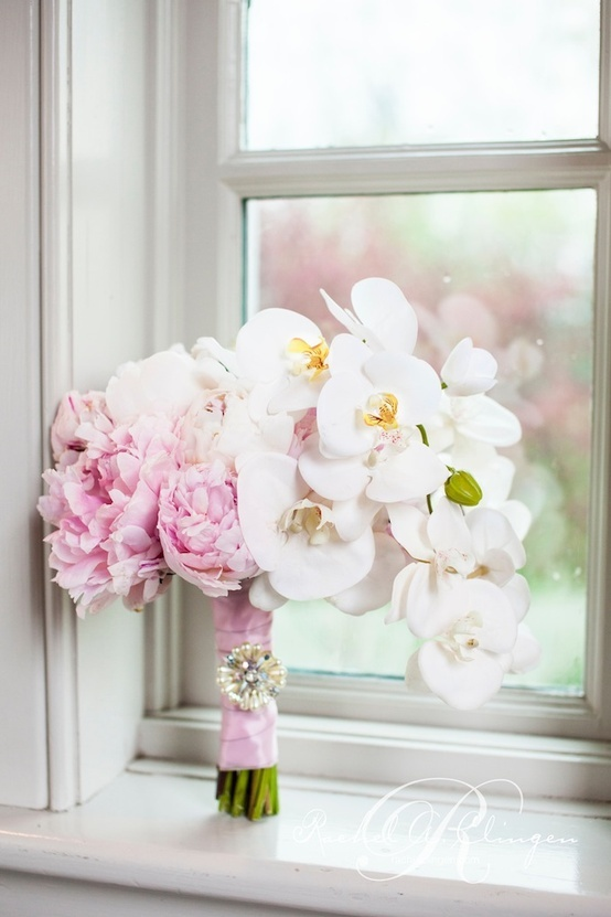 Phalaenopsis orchids and pink peonies  Photo credit   @Patricia Smith Price-Fullard Photography