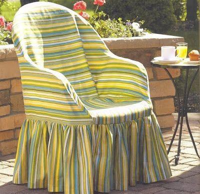 Solountip.com: Como hacer forros para sillas plásticas de jardín.