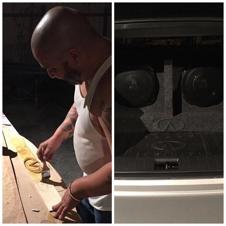 "When we say ""WE DO IT ALL"" we aren't kidding Custom speaker box with hand cut Wood Infinity. #nolasercut #nocncrouter #custommade #customwork #customspeakerbox #infinitylogo #woodwork #allthingswood #handcutlogo #WEDOITALL #onestopshop #AMwoodcreations de amwoodcreations"