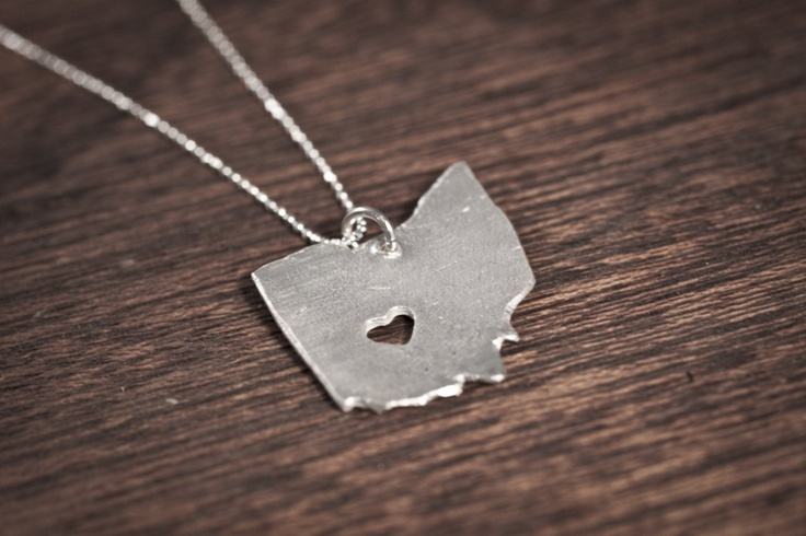 Ohio, here I come <3: Ohio Necklaces, Columbus Ohio, Heart Necklaces, My Heart, Ohio States, Sweet Home, States Necklaces, Cute Necklace, Heart Ohio
