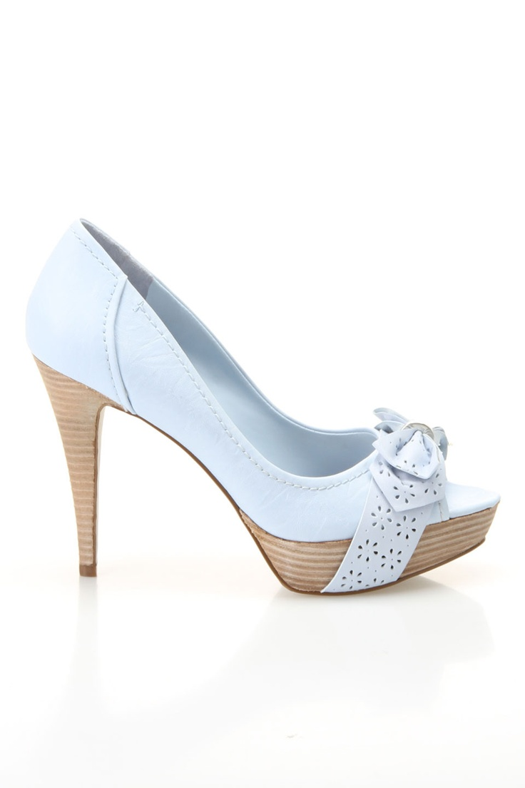 Perfection :) Guess Austin Heeled Sandals in Light Blue