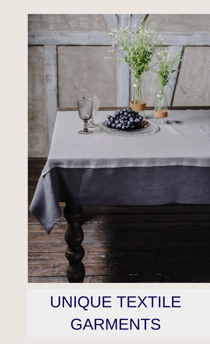 Grey Linen Tablecloth Rustic Kitchen Table Charcoal French Etsy Dining Table Cloth Rustic Kitchen Tables Spring Table Decor