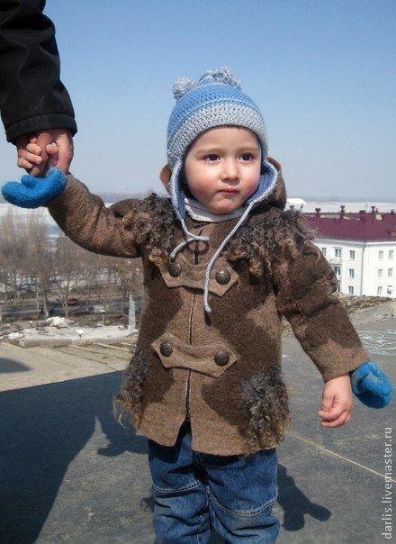 Купить Пальтишко для малыша. Продано. - коричневый, пальто для малыша, одежда унисекс, детское пальтишко