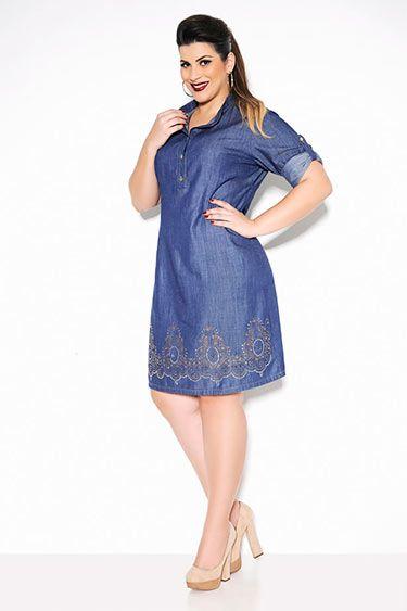 vestido plus size jeans 3