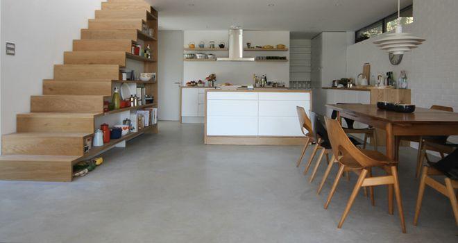 Полированный окрашенный цемент - Дизайн интерьеров   Идеи вашего дома   Lodgers