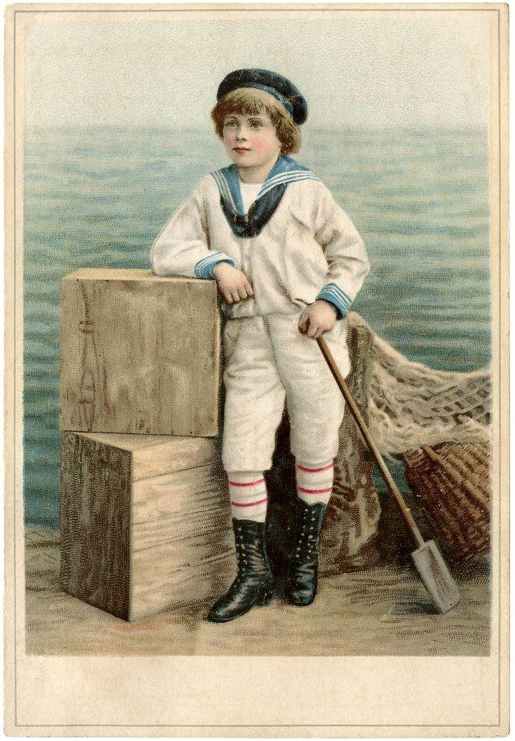 Vintage Sailor Boy Image