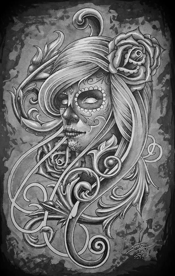 day of the dead tattoo
