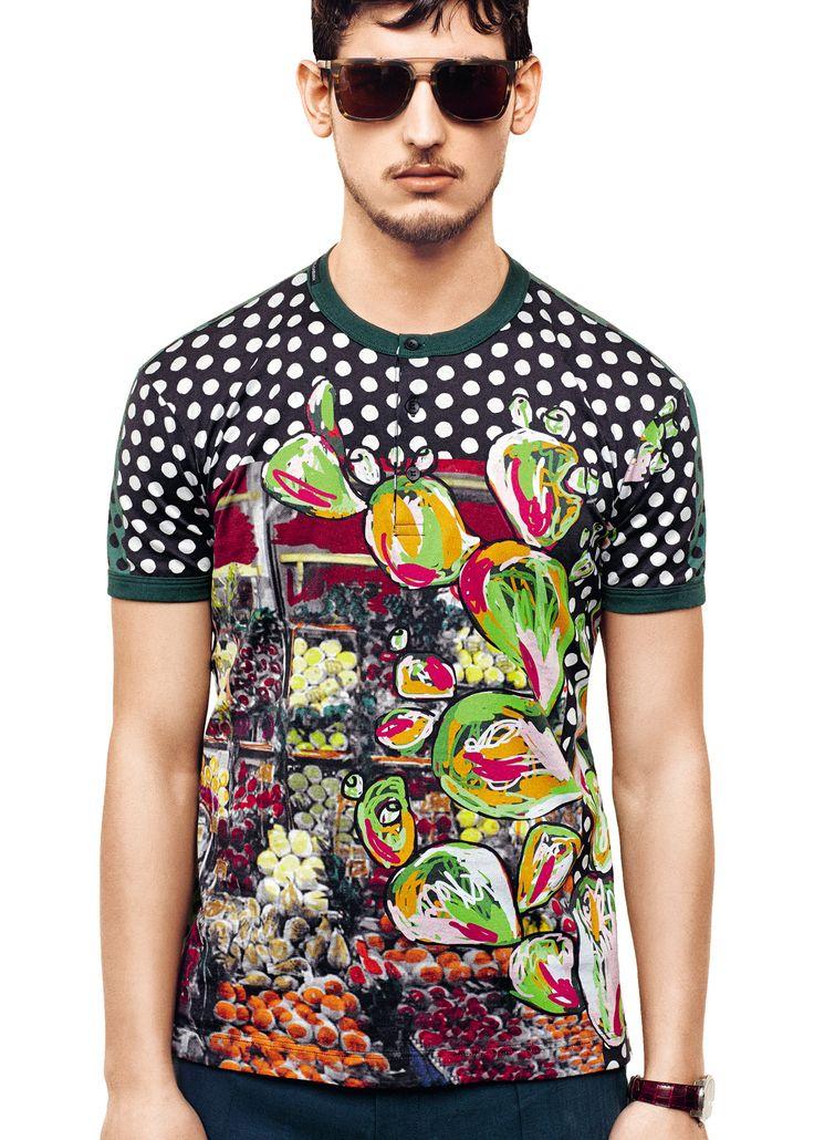 Handmade men's mushroom shirt, men's summer shirt