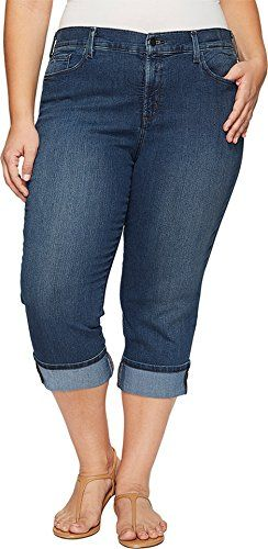 New Trending Denim: NYDJ Plus Size Womens Plus Size Dayla Wide Cuff Capris in Nottingham Nottingham Jeans. NYDJ Plus Size Women's Plus Size Dayla Wide Cuff Capris in Nottingham Nottingham Jeans   Special Offer: $108.00      400 Reviews
