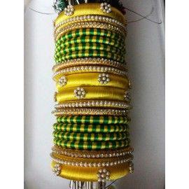 Bangle set made of silk thread-88