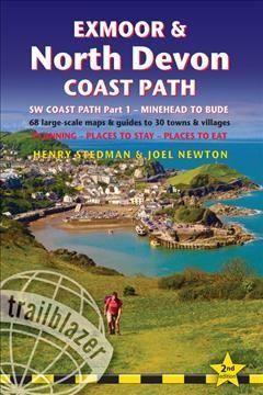 Trailblazer Exmoor & North Devon Coast Path: SW Coast Path Part 1 - Minehead to Bude - 68 Large-Scale Maps & Guid...