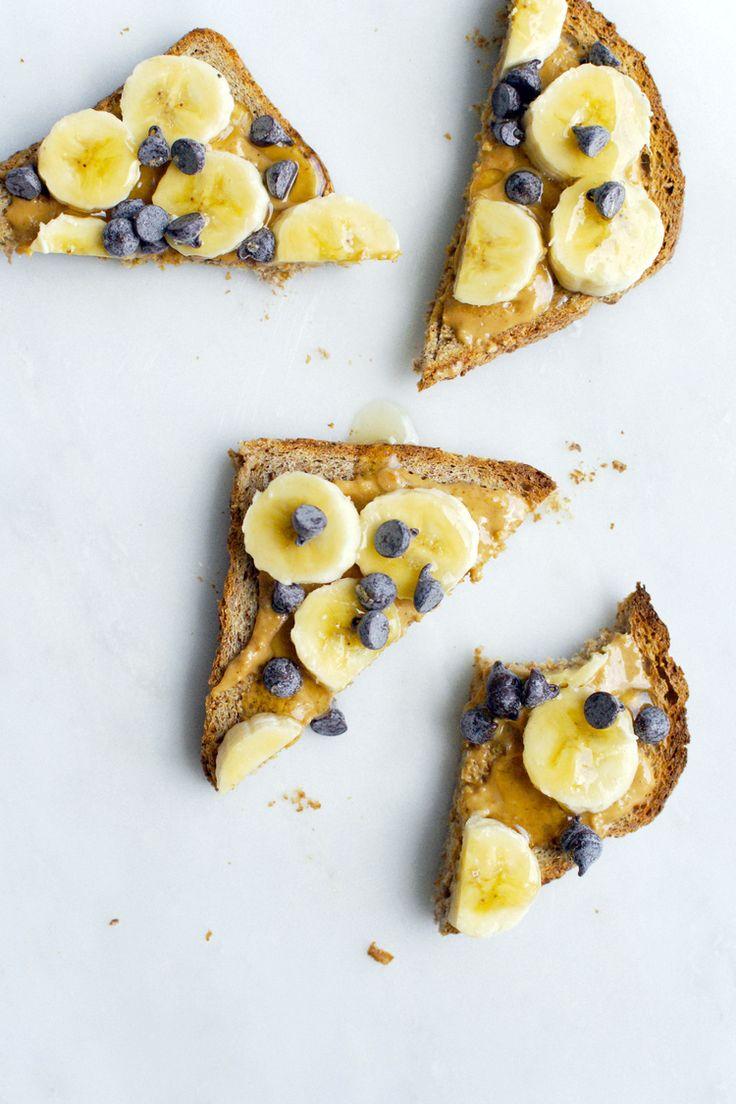 Chocolate Peanut Butter Banana Toast for Breakfast. #splendideats