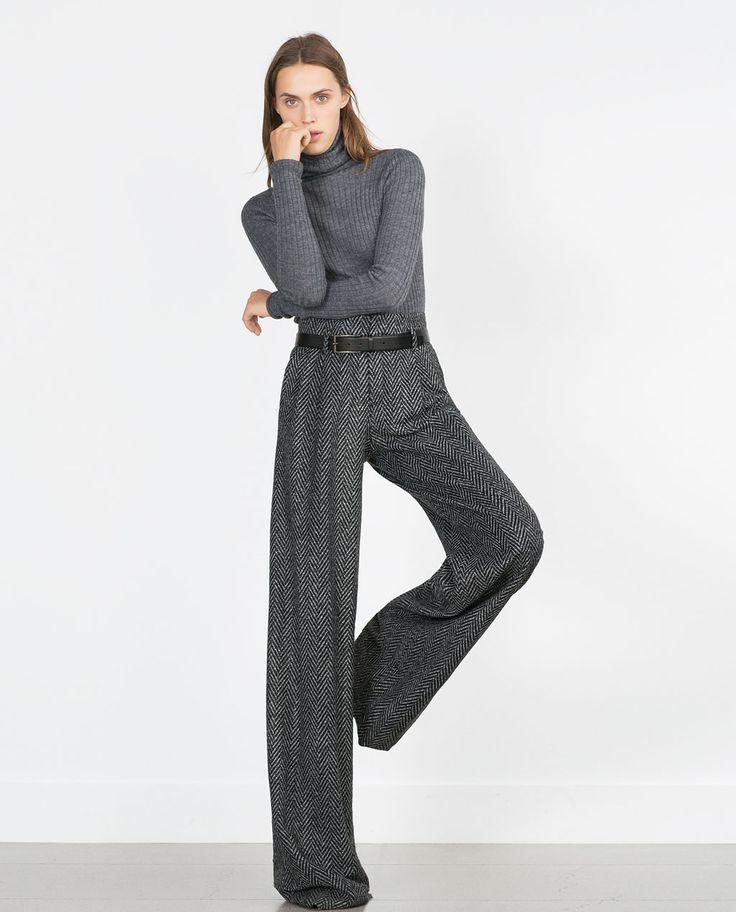 HERRINGBONE TROUSERS-View all-Trousers-WOMAN | ZARA United States