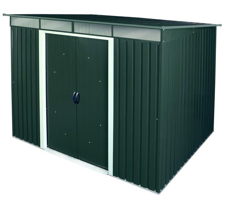 Duramax Metallgerätehaus Pent Roof Skylight 8x6 anthrazit. Außenmaße inkl. Dachüberstand: ca. 263,5 x 184,5 x 202 (BxTxH) cm.       Durch die Materialeigenschaften des verzinkten Stahlbleches ist es sehr lange haltbar und praktisch...