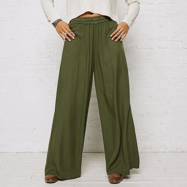 AEO Don?T Ask Why Wide Leg Pants ($40) liked on Polyvore ...