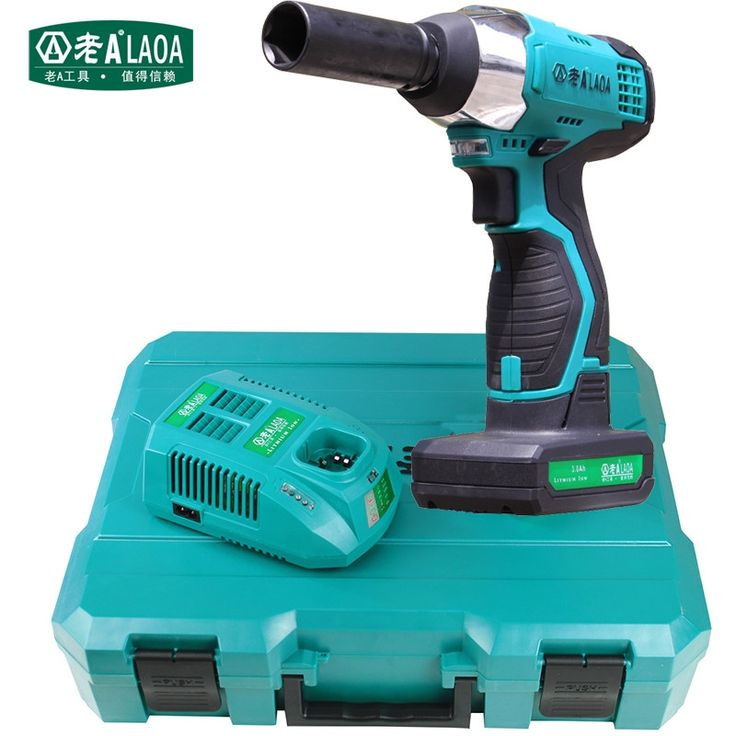 369.00$  Watch now - http://aliz47.worldwells.pw/go.php?t=32436412583 - LAOA 16V Cordless Electric Impact Wrench Power Wrench With Li-ion Battery Power Tools For Vehicle Repairing Automobile Service