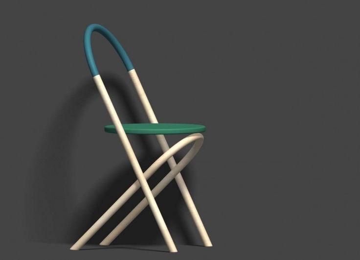 Romolo è una sedia molto semplice basata sulla forma dell'arco a tutto sesto. Sedia totalmente in legno con seduta circolare. Schienale e gambe con legno curvato. La sua semplicità formale è volutamente primordiale, proprio come il primo arco che fu inventato dai romani, tutto a un giro di compasso.