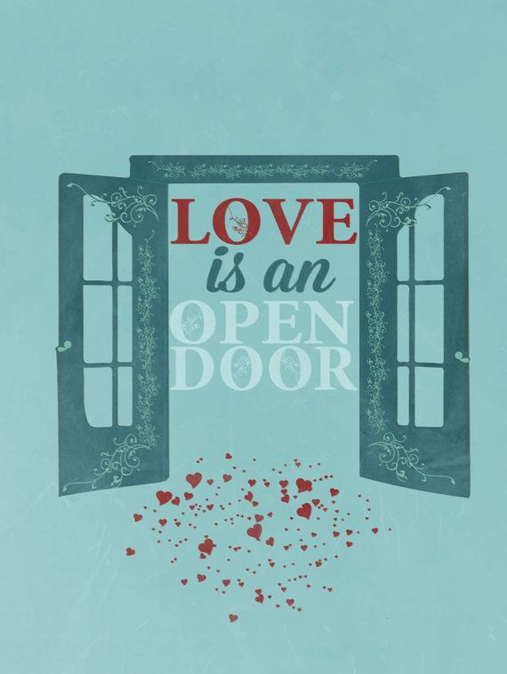 frozen.. disney.. love is an open door by studiomarshallarts, $5.00