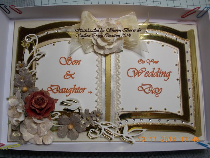 Wedding Card made using the Bookatrix Board by The Glitter Girls. Made by special request.