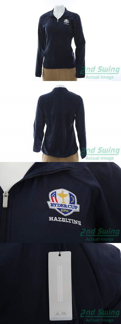 Other Womens Golf Clothing 181152: New Womens Adidas 2016 Ryder Cup Essential Fz Wind Jacket X-Large Navy Msrp $70 -> BUY IT NOW ONLY: $34.99 on eBay!
