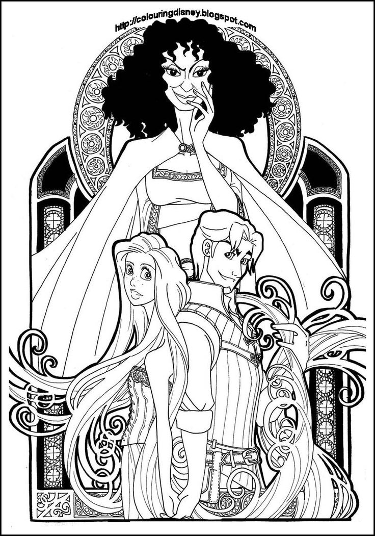 Coloring Pages For Rapunzel : 89 best coloring pages images on pinterest
