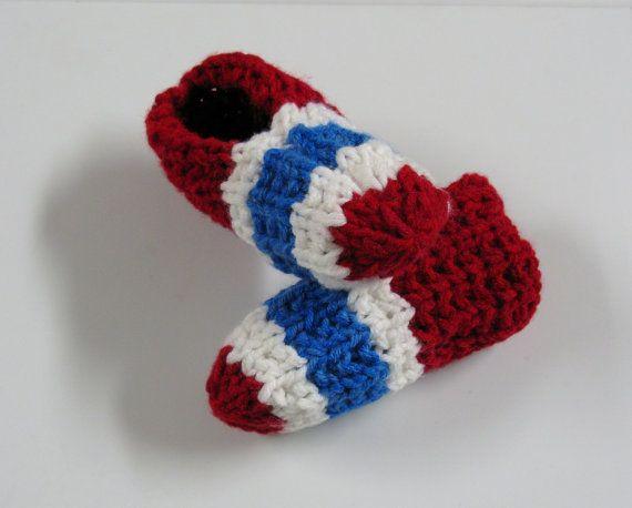 PATRON PDF #002 Pantoufles tricot Canadiens de Montréal, enfant, femme, homme