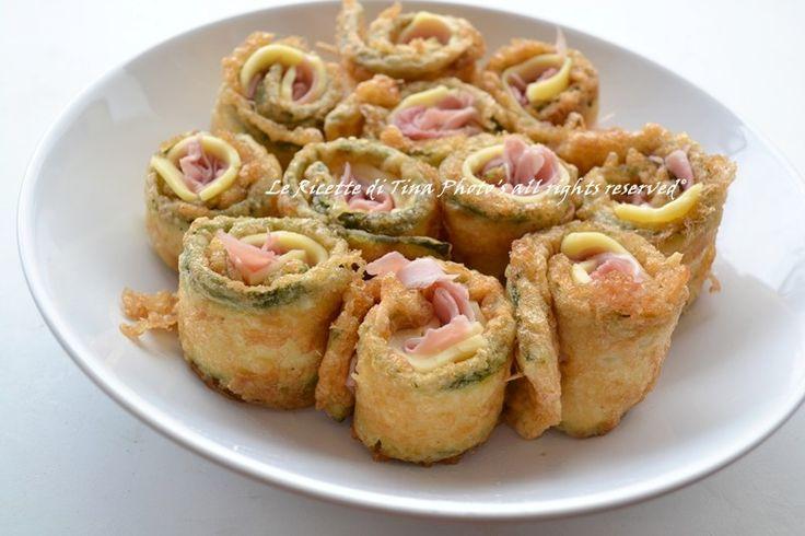 girelle di zucchine con prosciutto,zucchine fritte