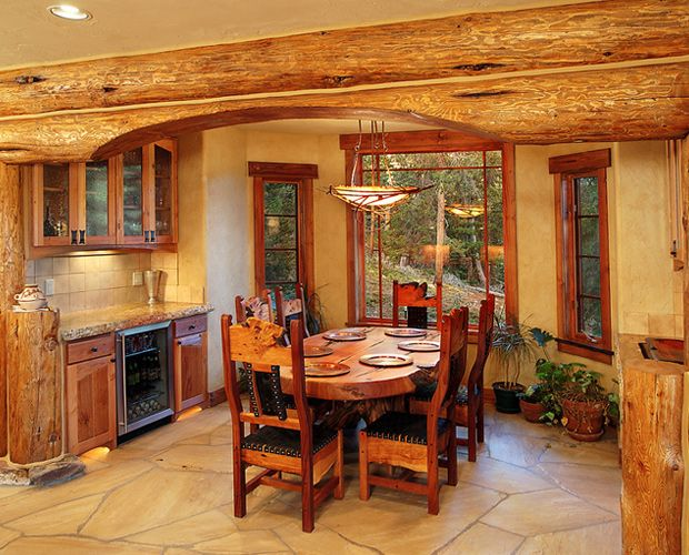 17 best images about beautiful log cabin dining rooms on for Log cabin furniture canada