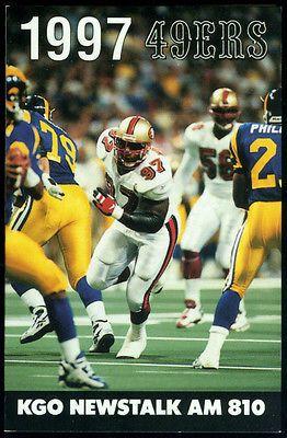 1997 San Francisco 49ers KGO Am 810 Radio Football Pocket Schedule   eBay