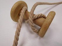 Kordel gedreht, beige ♥ 3m, 8mm, Baumwollkordel