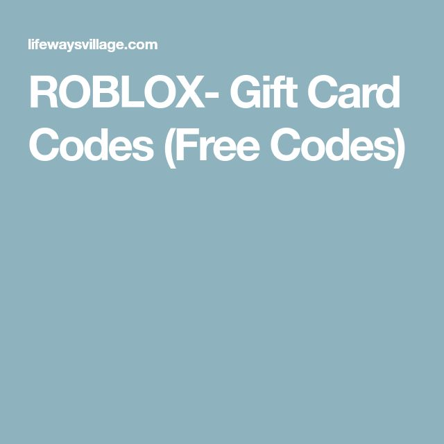 ROBLOX- Gift Card Codes (Free Codes) | Free Rubox in 2019 ...