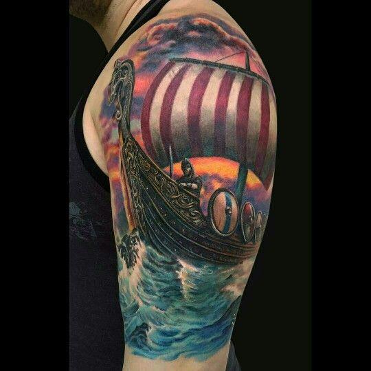 25 Viking Tattoo Designs Ideas: 25+ Best Ideas About Viking Ship Tattoo On Pinterest