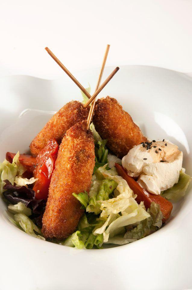 Pinchos  de pollo marinado en jengibre