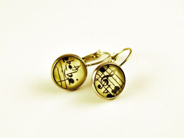 Ohrringe - Ohrringe Noten - Ohrringe Musik - ein Designerstück von Rehunion bei DaWanda
