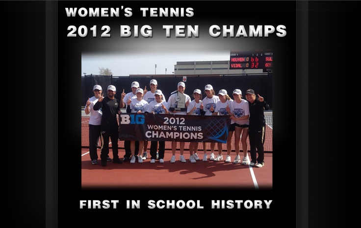 Purdue Women's Tennis wins the Big Ten Championships! First conference championship in school history!