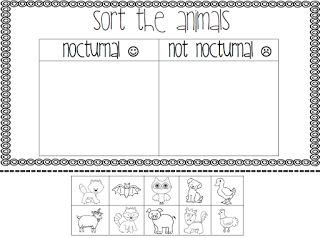 nocturnal animals preschool lesson plans nocturnal animals sort best of kindergarten 418
