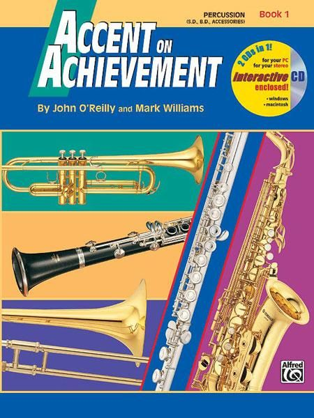 ALFRED 17097 Accent on Achievement, Book 1 [Percussion Snare Drum, Bass Drum & Accessories]