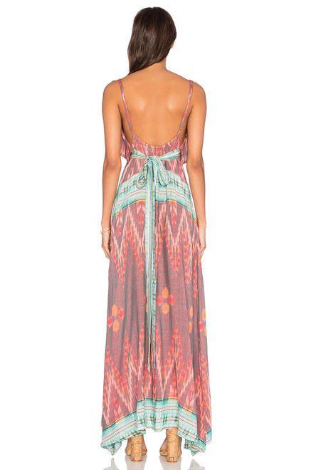 Cleobella Azara Dress в цвете Специя Принт Икат | REVOLVE