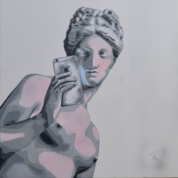 """""""Comme Moi Aime Moi"""" 90cm x 90cm. For more information please contact REDSEA Gallery on (07) 3162 2230 © Christian Palmer"""