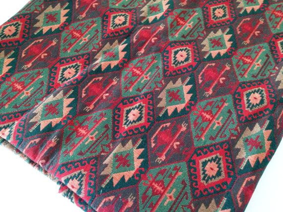 Ethnic Tribal Style Upholstery Fabric,Cotton Woven Fabric,Tapestry Fabric,Aztec Navajo Geometric Design Kilim Fabric,Fat Quarter