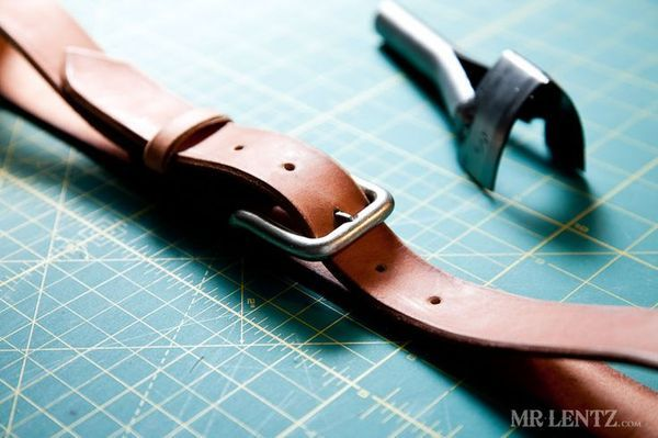 How to: Make Your Own DIY Leather Belt from Scratch | Man Made DIY | Crafts for Men | Keywords: clothing, style, diy, masculine